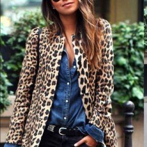 Jackets & Blazers - NWT Leopard Print Ladies Jacket Blazer 2XL